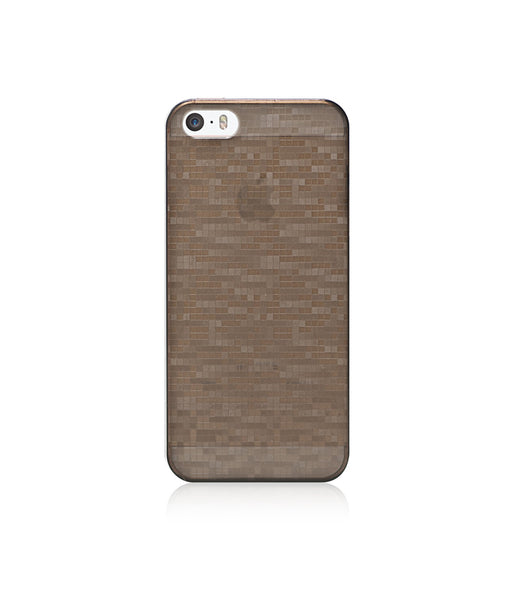 Slim, Translucent, hard case for iPhone SE :  Mosaic Cappuccino (brown)