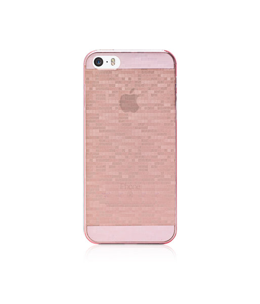 Slim, Translucent, hard case for iPhone SE:  Mosaic Sakura (Pink)