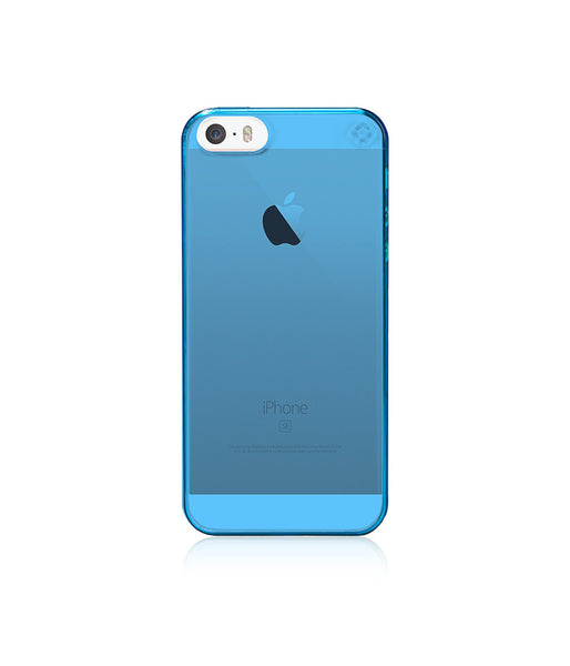 MINIMALIST Case for iPhone SE / Neon Blue