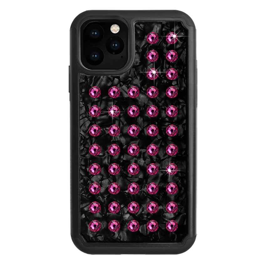 EXTRAVAGANZA ᛫ BLACK SHELL ᛫ Protective Cover with Swarovski® Crystals for iPhone 11 PRO - Bling My Thing - Swarovski Protective iPhone Case