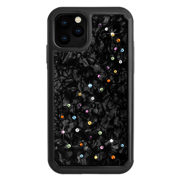 MILKY WAY ᛫ BLACK SHELL ᛫ Protective Cover with Swarovski® Crystals for iPhone 11 PRO - Bling My Thing - Swarovski Protective iPhone Case