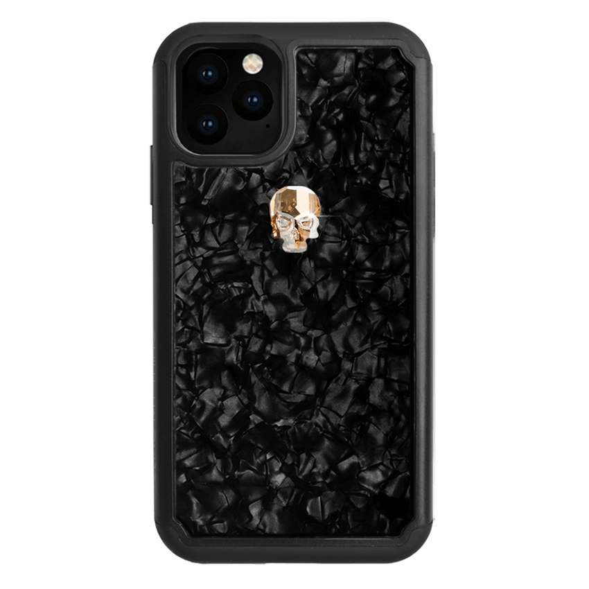 TREASURE ᛫ BLACK SHELL ᛫ Protective Cover with Swarovski® Crystals for iPhone 11 PRO - Bling My Thing