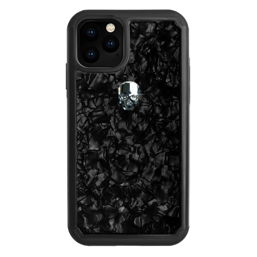 TREASURE ᛫ BLACK SHELL ᛫ protective cover with Swarovski Crystals for iPhone 11 PRO - Bling My Thing