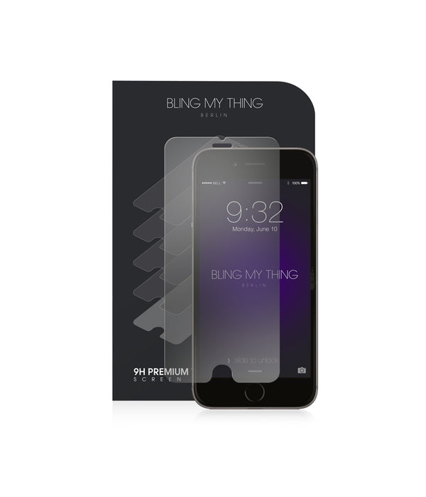 Premium Tempered Glass Screen Protectors for iPhone 6 Plus, iPhone 7 Plus,iPhone 8 Plus: 9H, anti-fingerprint, rounded edge - Bling My Thing