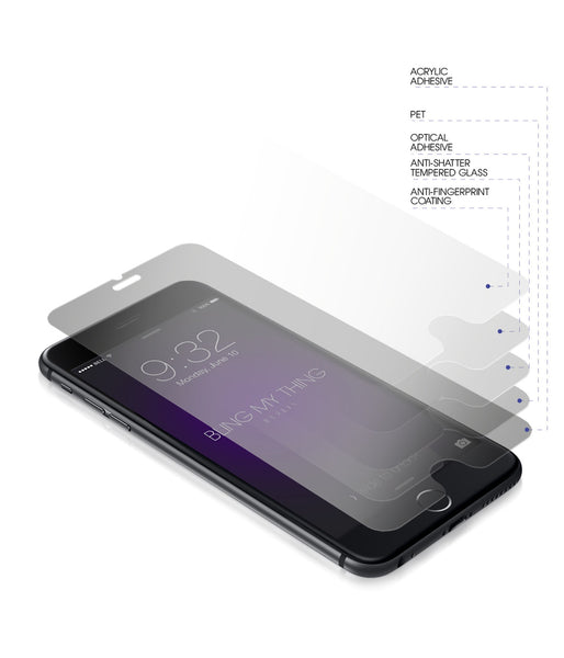 Premium Tempered Glass Screen Protectors for iPhone 6 Plus: 9H, anti-fingerprint, rounded edge