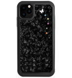PAPILLON ᛫ BLACK SHELL ᛫ Protective Cover with Swarovski® Crystals for iPhone 11 PRO MAX - Bling My Thing - Swarovski Protective iPhone Case