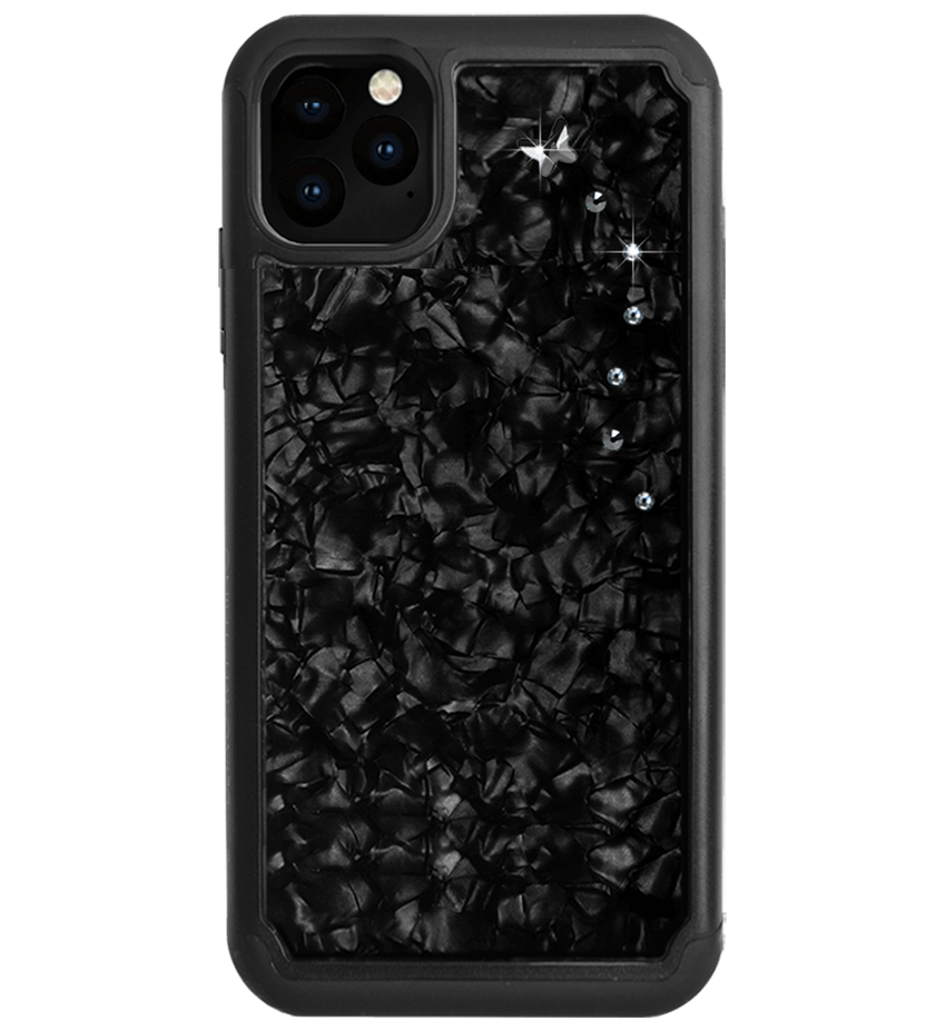 PAPILLON ᛫ BLACK SHELL ᛫ Protective Cover with Swarovski® Crystals for iPhone 11 PRO MAX - Bling My Thing