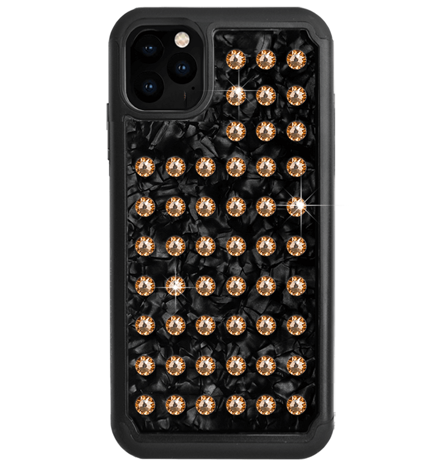 EXTRAVAGANZA ᛫ BLACK SHELL ᛫ Protective Cover with Swarovski® Crystals for iPhone 11 PRO MAX - Bling My Thing