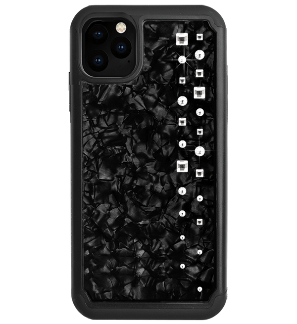 LUX ᛫ BLACK SHELL ᛫  Protective Cover with Swarovski® Crystals for iPhone 11 PRO MAX - Bling My Thing - Swarovski Protective iPhone Case