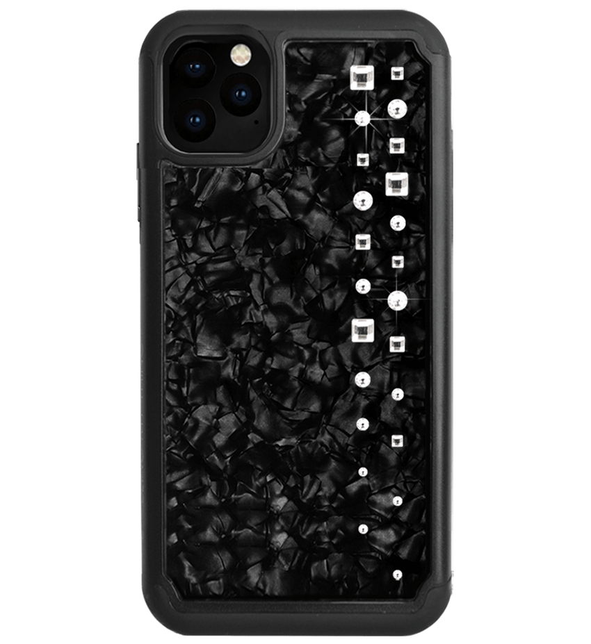 LUX ᛫ BLACK SHELL ᛫ protective cover with Swarovski Crystals for iPhone 11 PRO MAX - Bling My Thing