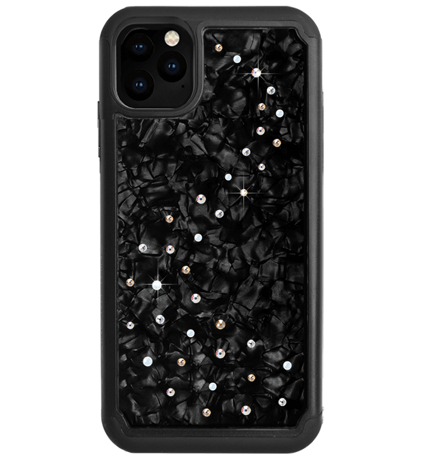 MILKY WAY ᛫ BLACK SHELL ᛫ Protective Cover with Swarovski® Crystals for iPhone 11 PRO MAX - Bling My Thing - Swarovski Protective iPhone Case