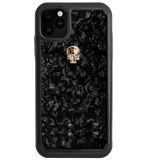 TREASURE ᛫ BLACK SHELL ᛫ Protective Cover with Swarovski® Crystals for iPhone 11 PRO MAX - Bling My Thing - Swarovski Protective iPhone Case