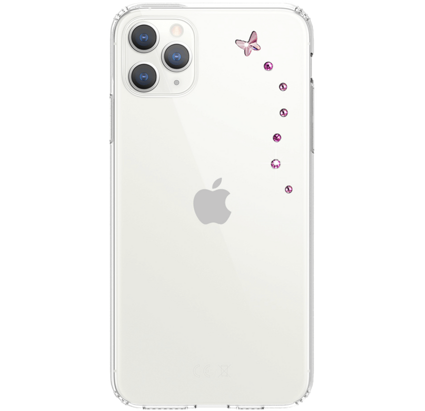 PAPILLON ᛫ CLEAR ᛫ protective cover with Swarovski Crystals for iPhone 11 PRO MAX - Bling My Thing
