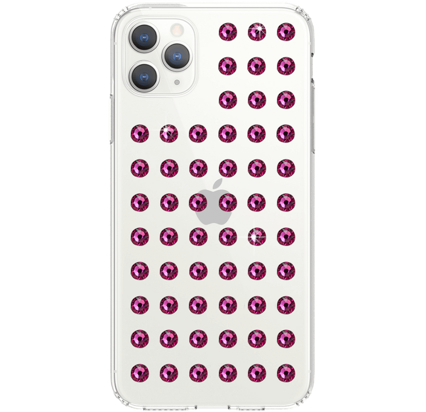 EXTRAVAGANZA ᛫ CLEAR ᛫ Protective Cover with Swarovski® Crystals for iPhone 11 PRO MAX - Bling My Thing
