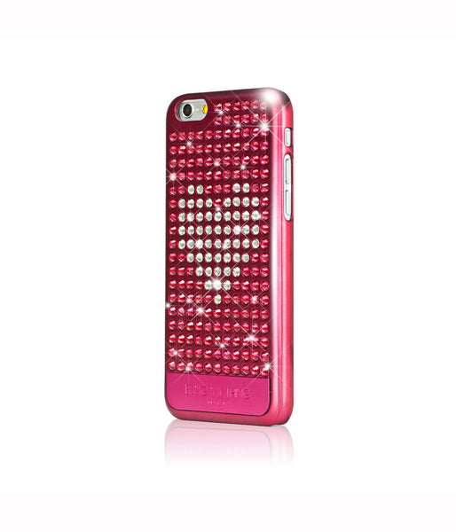 Heart on Pink, Indian Pink/Crystal Heart, Extravaganza, iPhone 6/6s Case - Bling My Thing
