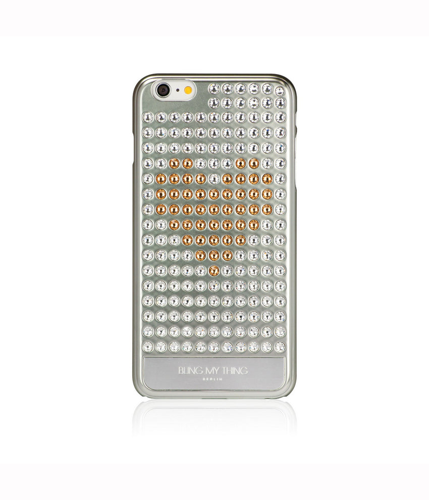 Ultimate Sparkle! Extravaganza Heart case iPhone 6 Plus  Swarovski®  Crystals designer cover Bling My Thing - Silver - Crystal + Gold Heart 6afd35d1bf