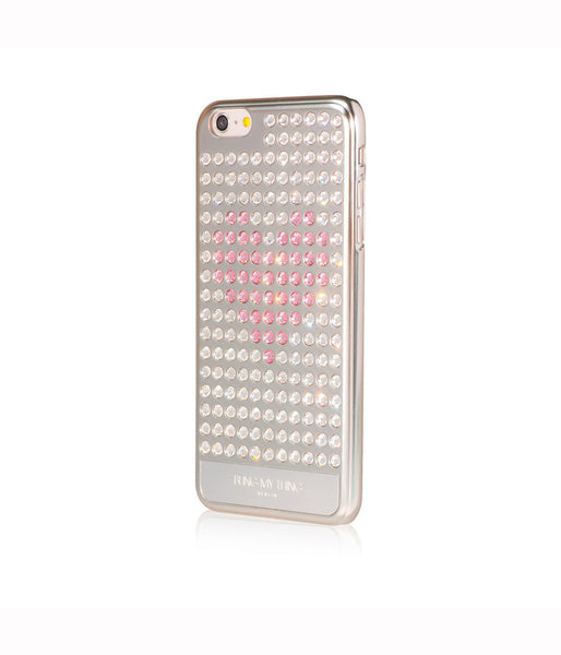 Ultimate Sparkle! Extravaganza Heart case iPhone 6 Plus: Swarovski® Crystals designer cover Bling My Thing-Silver - Crystal - Light Rose Heart