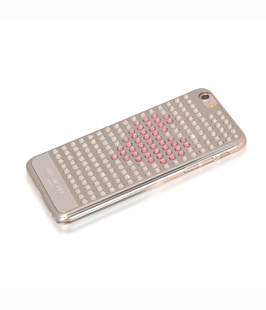 Ultimate Sparkle! Extravaganza Heart case iPhone 6 Plus: Swarovski® Crystals designer cover Bling My Thing-Silver - Crystal - Light Rose Heart - Bling My Thing