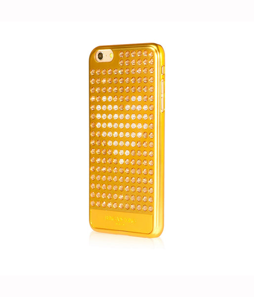 Ultimate Sparkle! Extravaganza Heart case iPhone 6 Plus: Swarovski® Crystals designer cover Bling My Thing - Gold + Crystal Heart