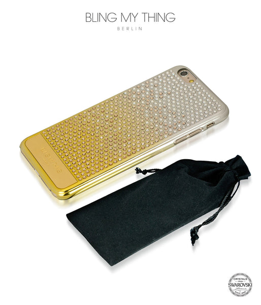 Pure luxury! CASCADE case for iPhone 6 Plus: Swarovski® Crystals designer cover by Bling My Thing - Brilliant Gold