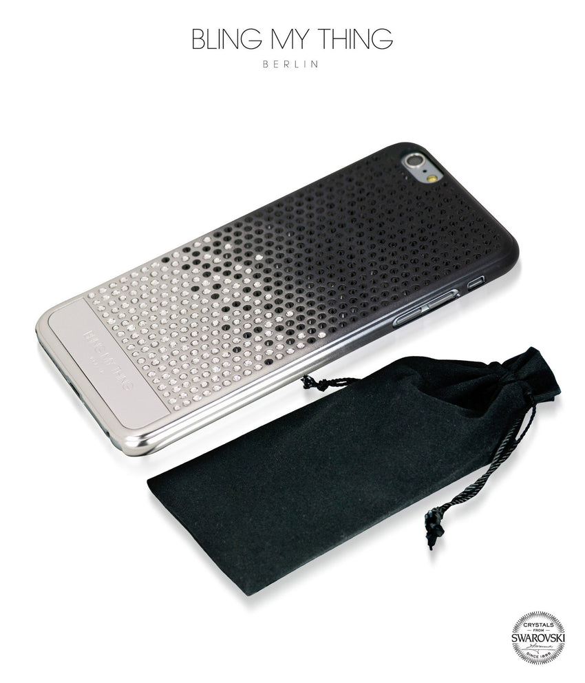 Pure luxury! CASCADE case for iPhone 6 Plus: Swarovski® Crystals designer cover by Bling My Thing - Brilliant Onyx - Bling My Thing