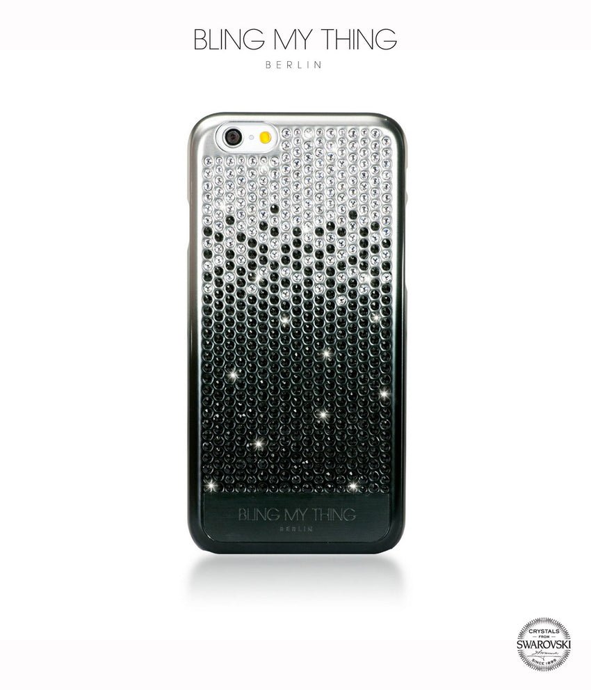Brilliant Onyx, Black to Silver Gradation, Vogue, iPhone 6/6s Case - Bling My Thing
