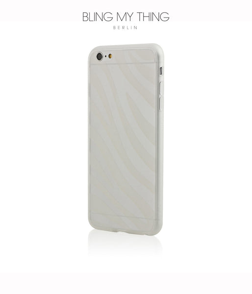 Shock absorption bumper + flexible anti scratch ultra clear back for iPhone 6/6s Plus by AYANO: Expression Zebra Design