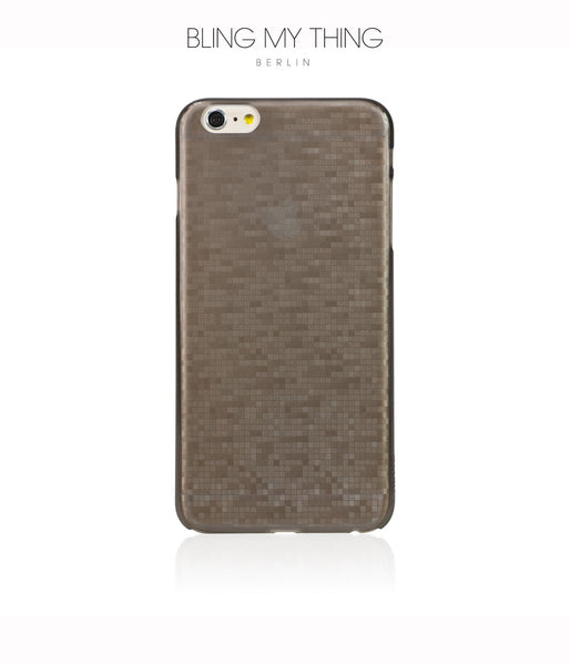 Slim, Translucent, hard case for iPhone 6 Plus : Mosaic Cappuccino (brown) by AYANO - Bling My Thing