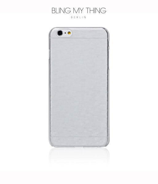 Slim, Translucent, hard case for iPhone 6 Plus :  Mosaic Ice (white) - Bling My Thing