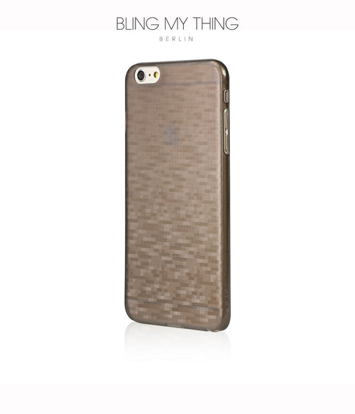 Slim, Translucent, hard case for iPhone 6 Plus : Mosaic Cappuccino (brown) by AYANO