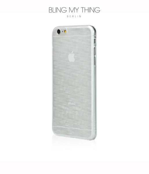 Slim, Translucent, hard case for iPhone 6 Plus :  Mosaic Ice (white)