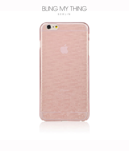 Slim, Translucent, hard case for iPhone 6 Plus: Mosaic Sakura by AYANO (Pink) - Bling My Thing