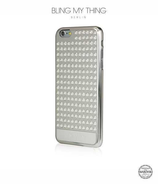 Ultimate Sparkle! Extravaganza case for iPhone 6 Plus: Swarovski® crystal cover by Bling My Thing - Silver + Crystal