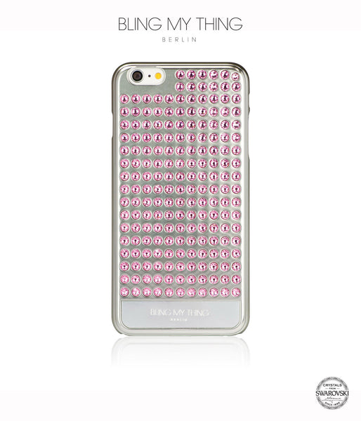 Ultimate Sparkle! Extravaganza case for iPhone 6 Plus: Swarovski® Crystals cover by Bling My Thing - Silver + Light Rose - Bling My Thing