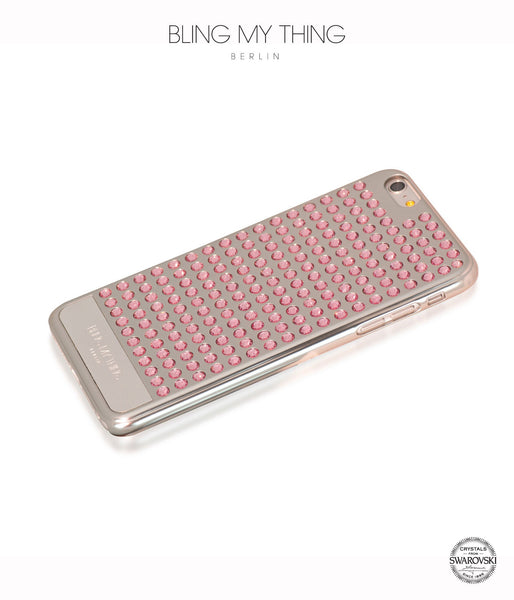 Ultimate Sparkle! Extravaganza case for iPhone 6 Plus: Swarovski® Crystals cover by Bling My Thing - Silver + Light Rose