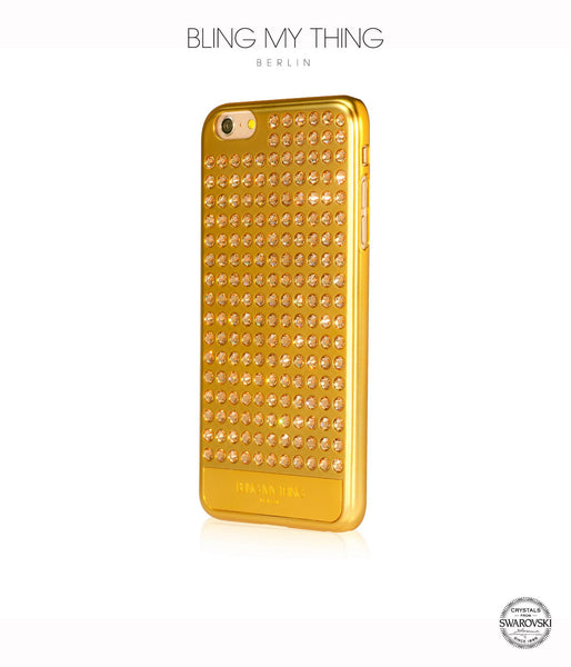 Ultimate Sparkle! Extravaganza case for iPhone 6 Plus: Swarovski® Crystals cover by Bling My Thing - Gold + LCT