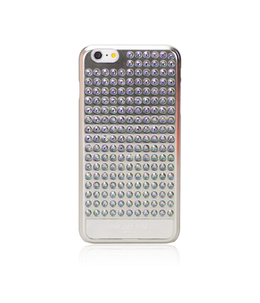Ultimate Sparkle! Extravaganza case for iPhone 6 Plus: Swarovski® Crystals designer cover by Bling My Thing - Pure Silver (Paradise Shine)