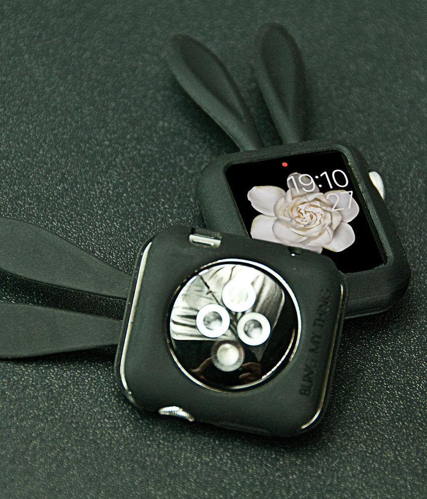 Black Silicone Bunny Ear Bumper | Fashion Apple Watch Accessories - Bling My Thing