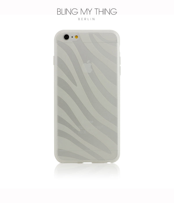 Shock absorption bumper + flexible anti scratch ultra clear back for iPhone 6s Plus by AYANO: Expression Zebra Design - Bling My Thing
