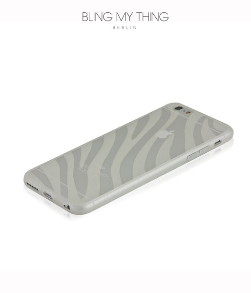 Shock absorption bumper + flexible anti scratch ultra clear back for iPhone 6s Plus  by AYANO: Expression Zebra Design