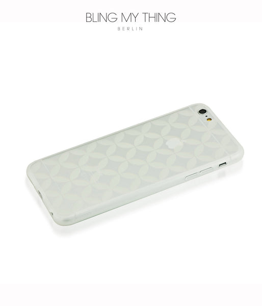 Shock absorption bumper + flexible anti scratch ultra clear back for iPhone 6s Plus  by AYANO: Expression Fiori Design