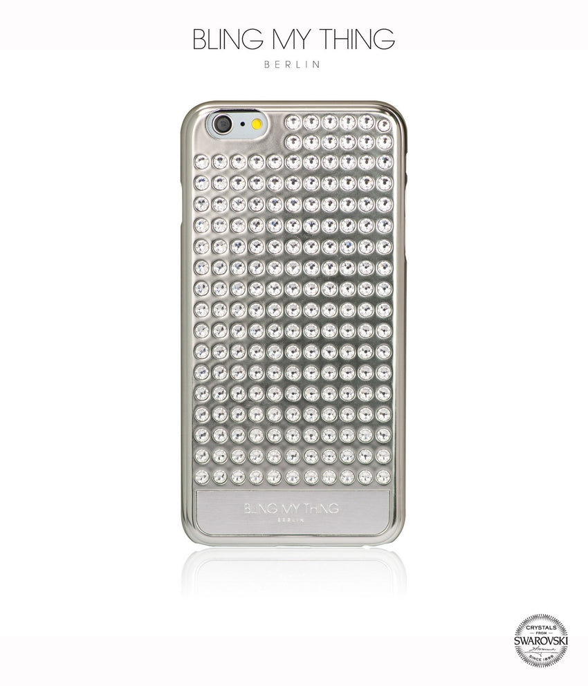 Ultimate Sparkle! Extravaganza case for iPhone 6s Plus: Swarovski ® crystal cover by Bling My Thing - Silver + Crystal - Bling My Thing