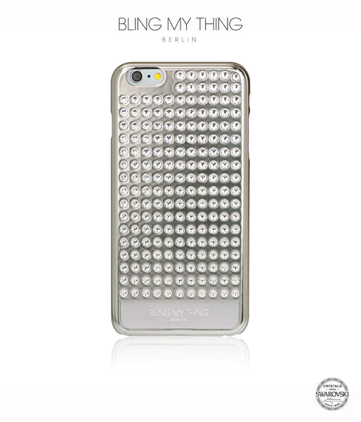 Ultimate Sparkle! Extravaganza case for iPhone 6s Plus: Swarovski ® crystal cover by Bling My Thing - Silver + Crystal