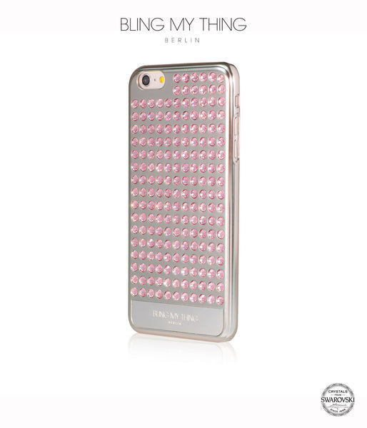 Ultimate Sparkle! Extravaganza case for iPhone 6s Plus: Swarovski ® Crystals cover by Bling My Thing - Silver + Light Rose