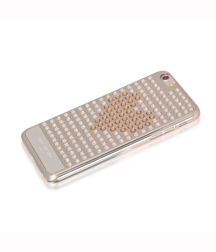 Ultimate Sparkle! Extravaganza Heart case iPhone 6s Plus: Swarovski ® Crystals designer cover Bling My Thing - Silver - Crystal + Gold Heart - Bling My Thing