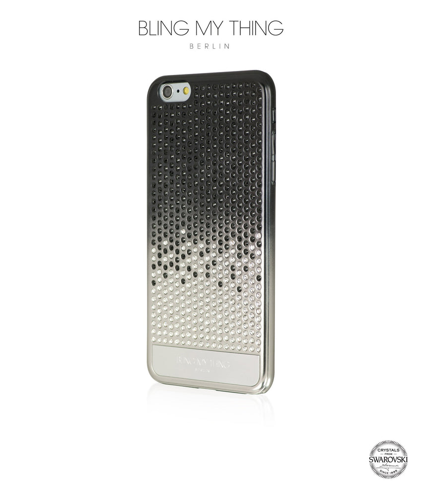 Pure luxury! CASCADE case for iPhone 6s Plus: Swarovski ® Crystals designer cover by Bling My Thing - Brilliant Onyx - Bling My Thing