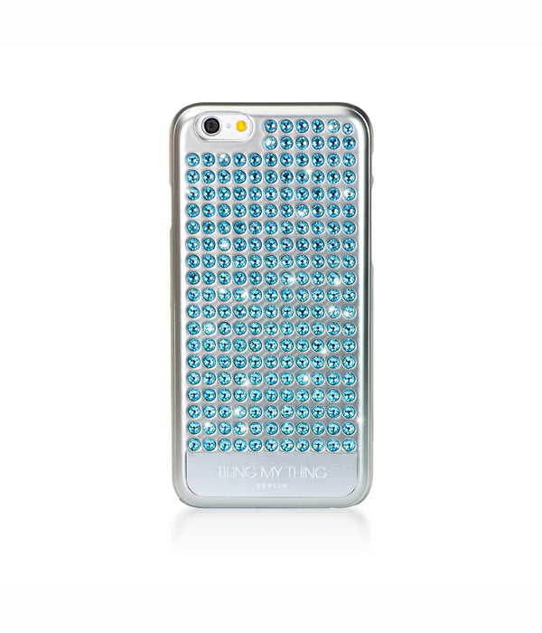 Pure Silver, Aquamarine, Extravaganza, iPhone 6s Case - Bling My Thing