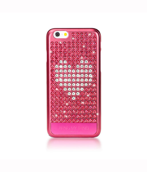 Heart on Pink, Indian Pink/Crystal Heart, Extravaganza, iPhone 6s Case - Bling My Thing