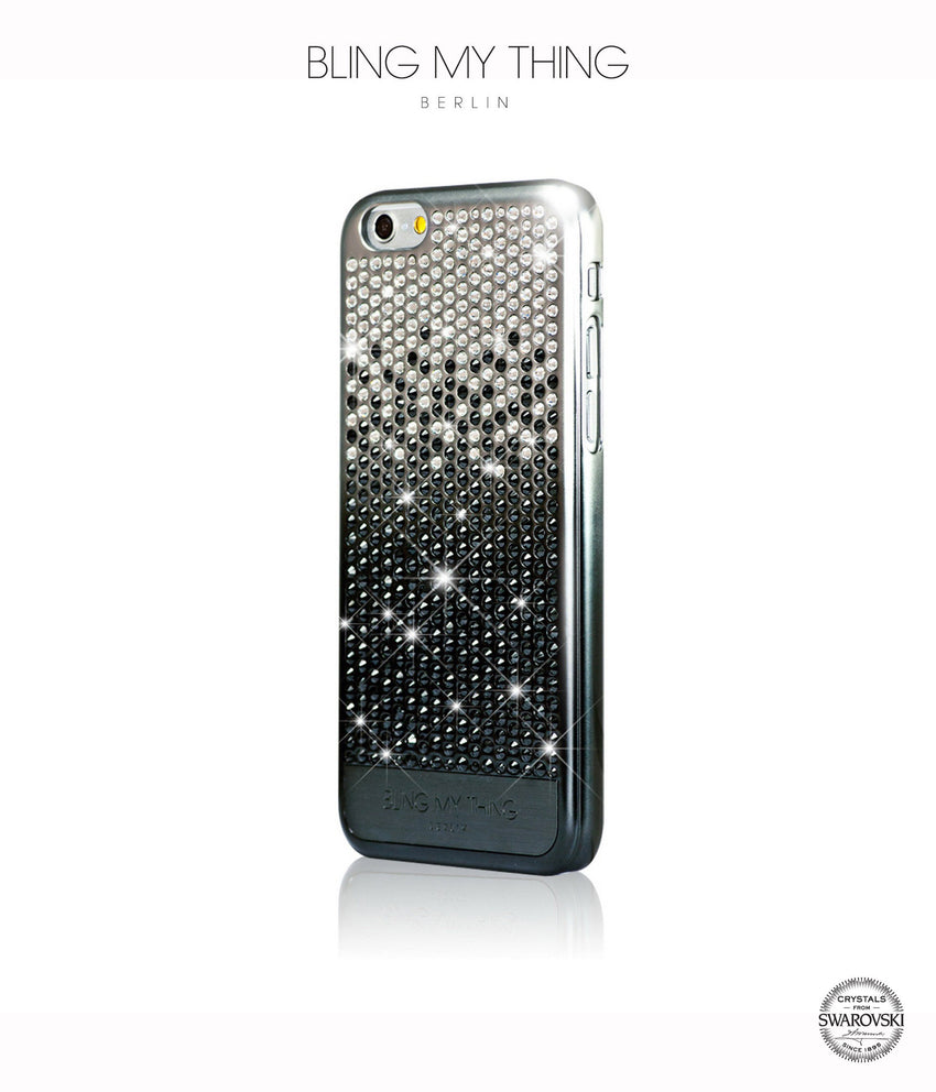 Brilliant Onyx, Black to Silver Gradation, Vogue, iPhone 6s Case - Bling My Thing