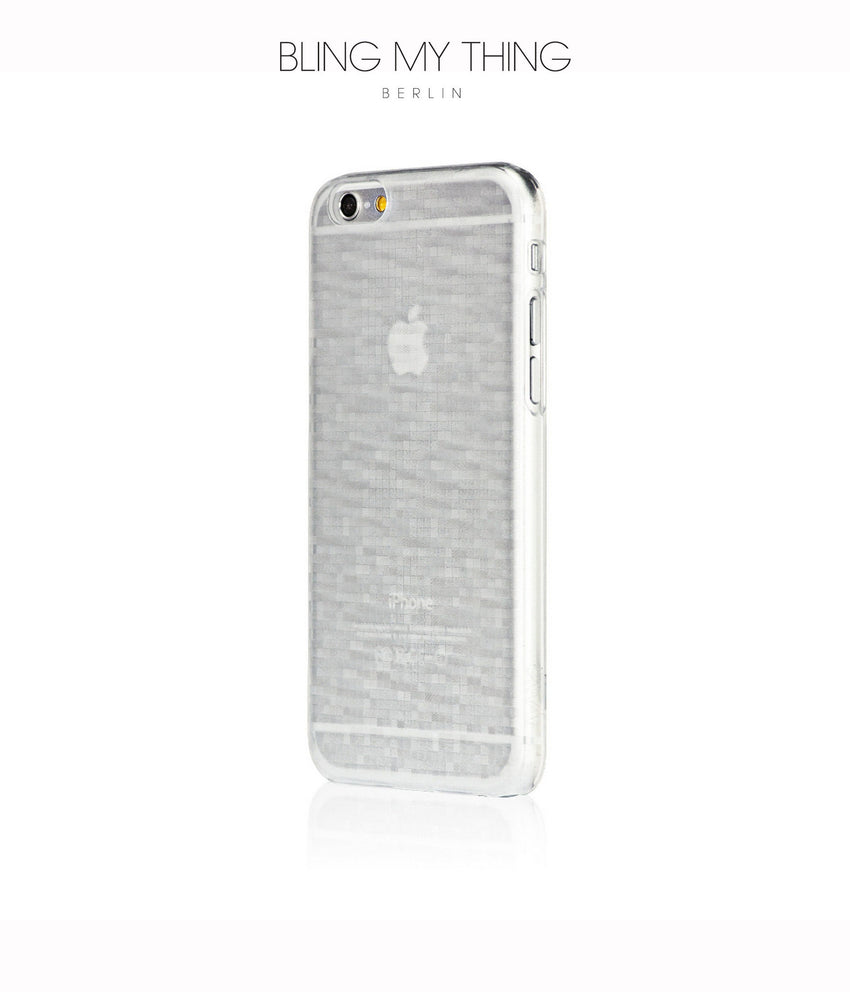 Mosaic Ice, White, iPhone 6s Hard Case - Bling My Thing
